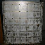 Люк металлический полукруглый, декор с ковкой