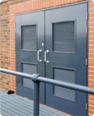 Двери технические с жалюзийными решетками