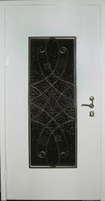 Дверь стальная с ковкой