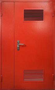 Дверь техническая двустворчатая с жалюзийными решетками
