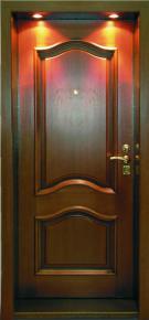 Входная дверь с металлическим добором с подсветкой