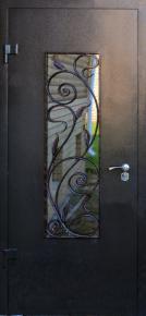 Стальная дверь с ковкой