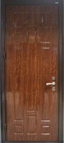 Стальная дверь с наружной отделкой МДФ