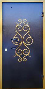 Стальная дверь с фигурной ковкой