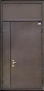Двустворчатая дверь с глухой вставкой сверху